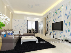 《蓝蝶》--现代中式三房两厅127平米