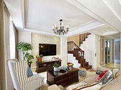 【高清】140平淡雅舒适美式之家