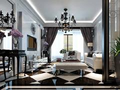 金印现代城127平三室两厅新古典风格