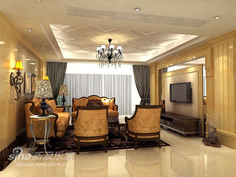 中式简约风格客厅装修效果图