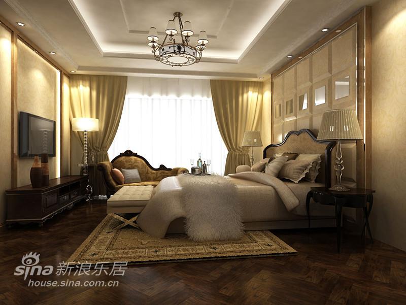 中式简约风格卧室装修效果图