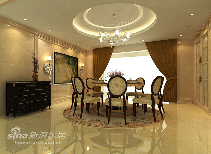 中式简约风格餐厅装修效果图
