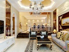 【多图】百万打造奢华欧式三层别墅-长沙实创装饰