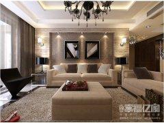 鲁能7号院-119平米三居室现代风格设计案例