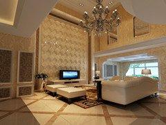 【西安实创装饰】36万打造曲江真境238平米别墅古典美的新古典风格