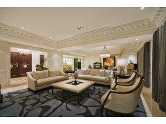 远洋庄园253平华丽典雅,高贵沉稳欧式别墅装修设计