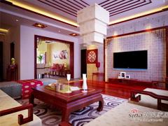 上林溪180平米新中式风格别墅装修设计