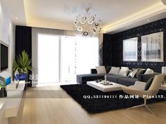 《一帘幽梦》--现代简约四房两厅154平米