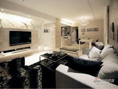 【高清】110平现实时尚风格3居室