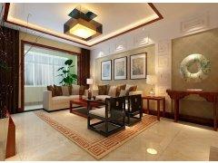 华润悦府209平装修设计-别具特色简约中式家