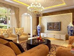 【多图】龙湾城142平米-三室两厅两卫-新古典主义风格