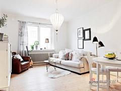 白领夫妻54平北欧风格清新居
