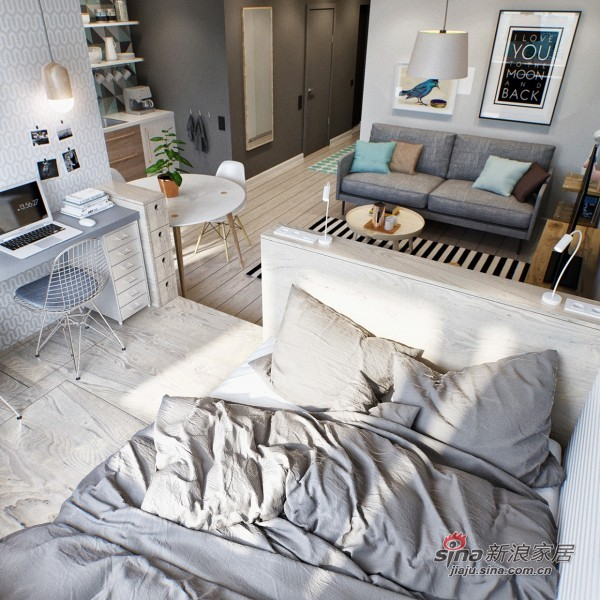 开放式卧室