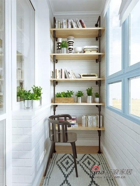 阳台小书房