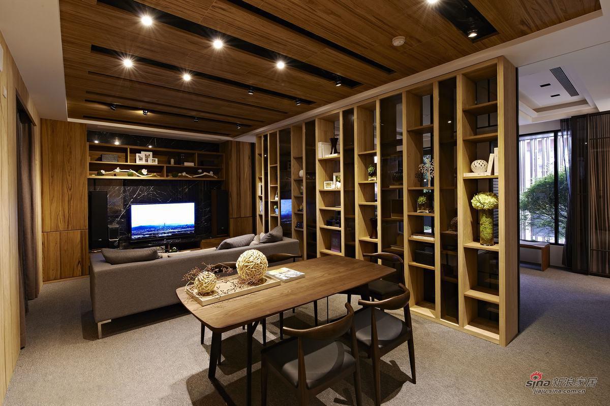 客厅生态木系感觉十足