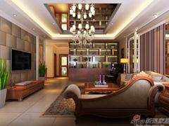 不一样的中式风打造保利香槟国际四居室
