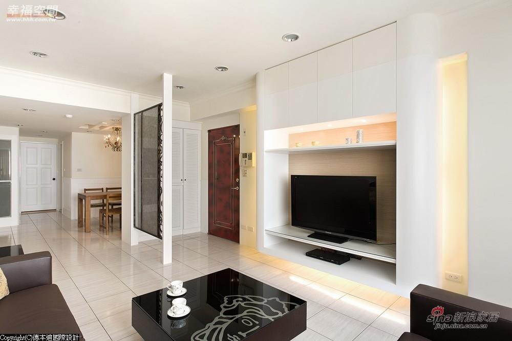 电视主墙-采悬空U字型的造型规划