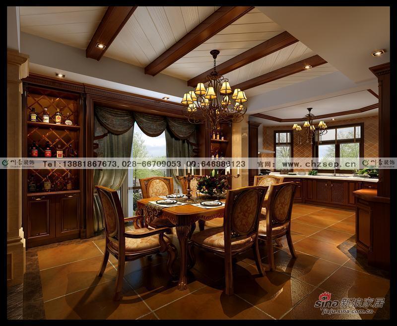 60万装低调奢华美式风格别墅图片 样板间