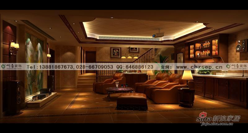 0万装低调奢华美式风格别墅图片 样板间 新浪装修家居网高清图片