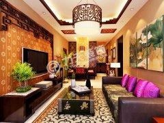 枫丹天城-三室二厅一卫一厨-新中式