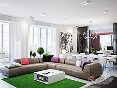 崇尚自由300平简欧风公寓设计