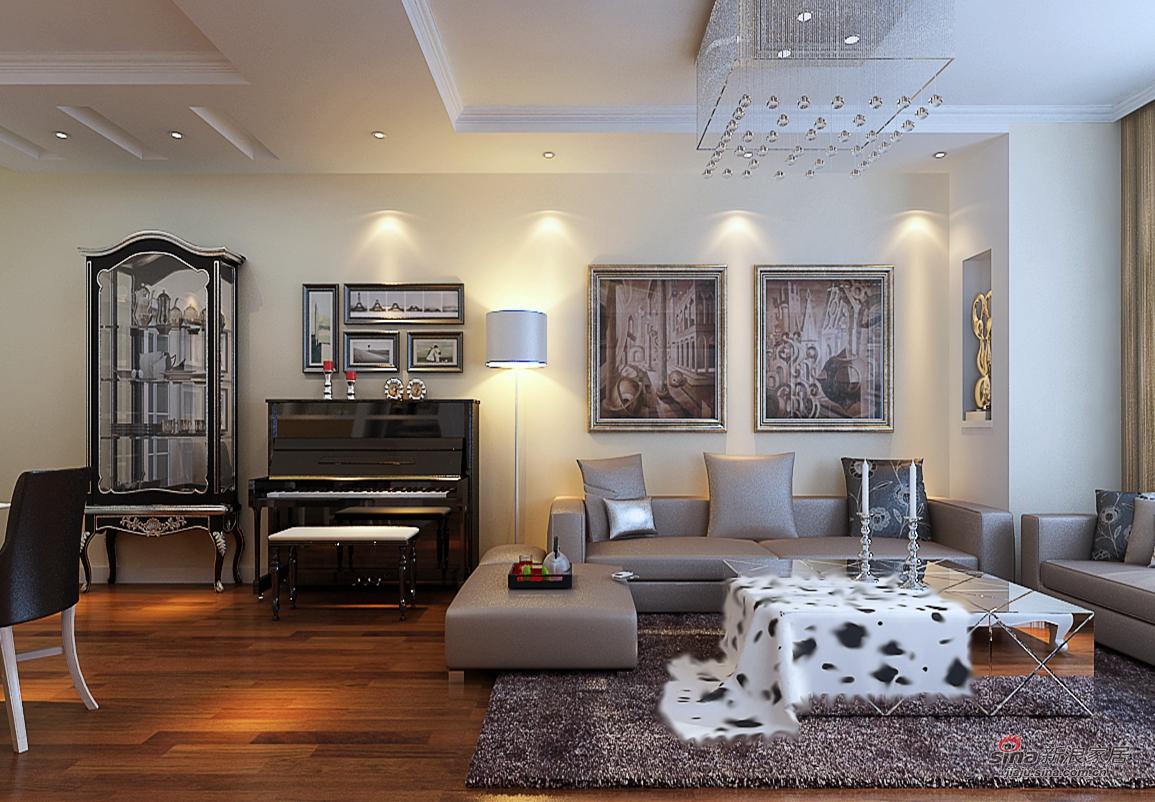 富强天合园113平/三居室简欧风格/低调