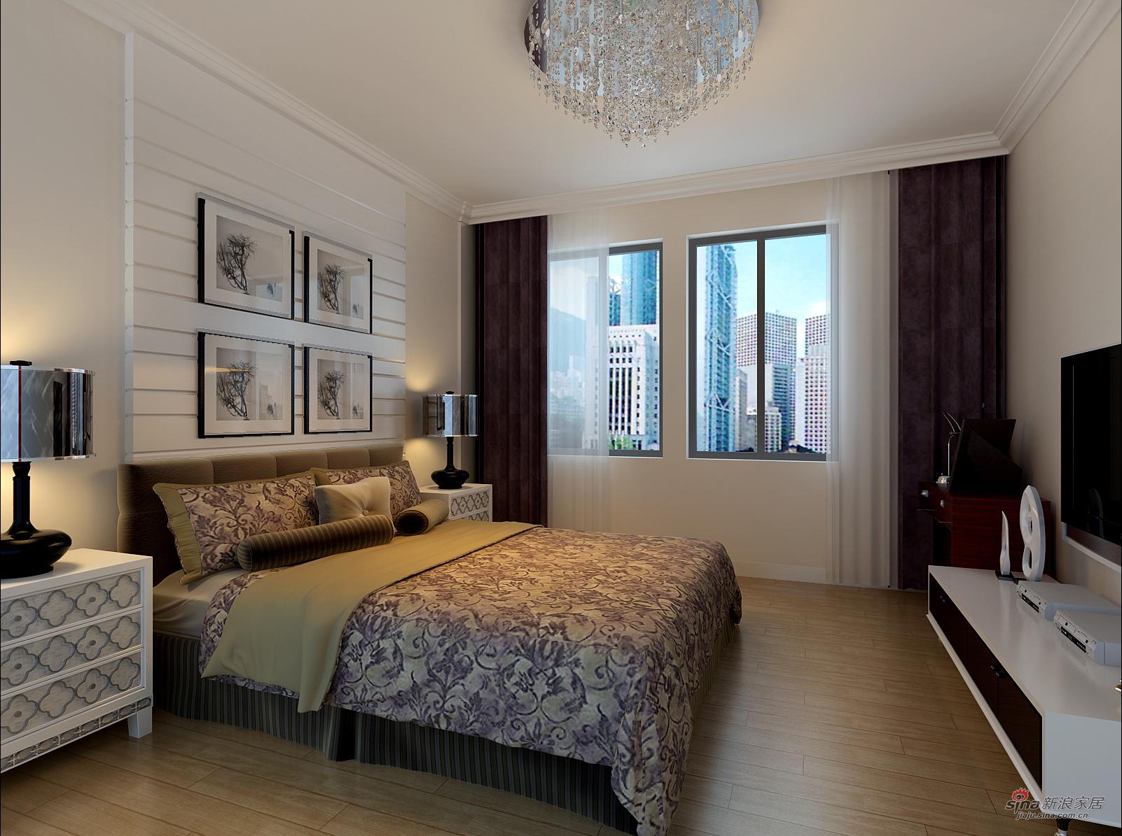 富强天合园121平/三居室/简约风格装修