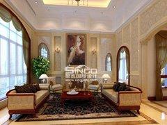 星杰国际设计80万装修400�O 新古典风格