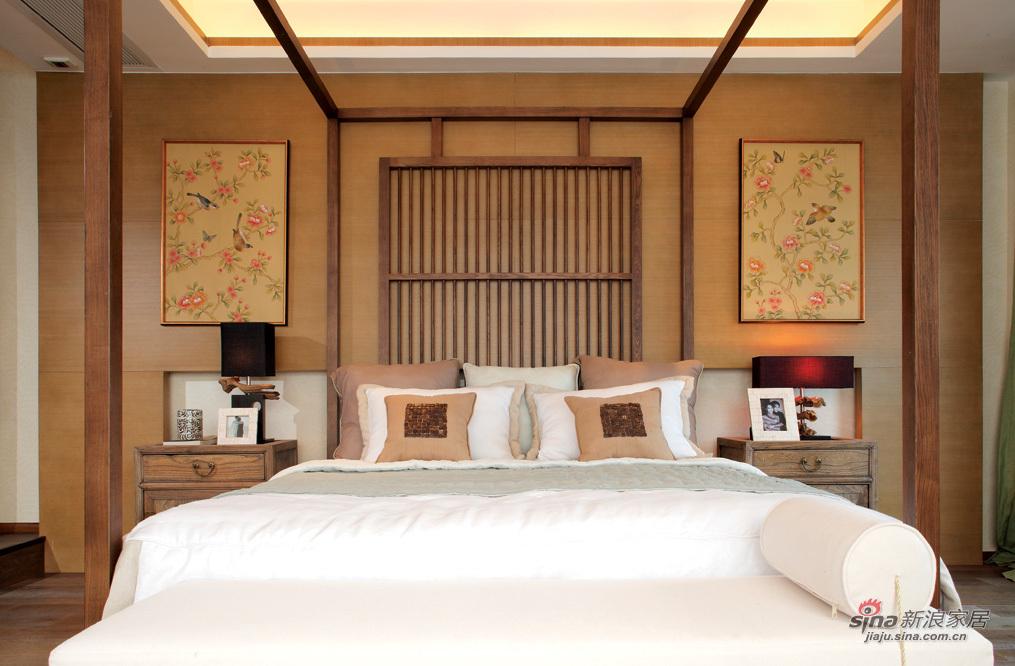 简洁大方的中式卧室