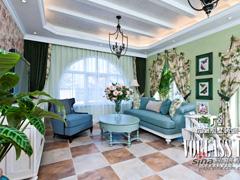 【多图】格拉斯小镇329平地中海风格与田园风格完美结合