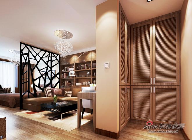 储物柜和客厅