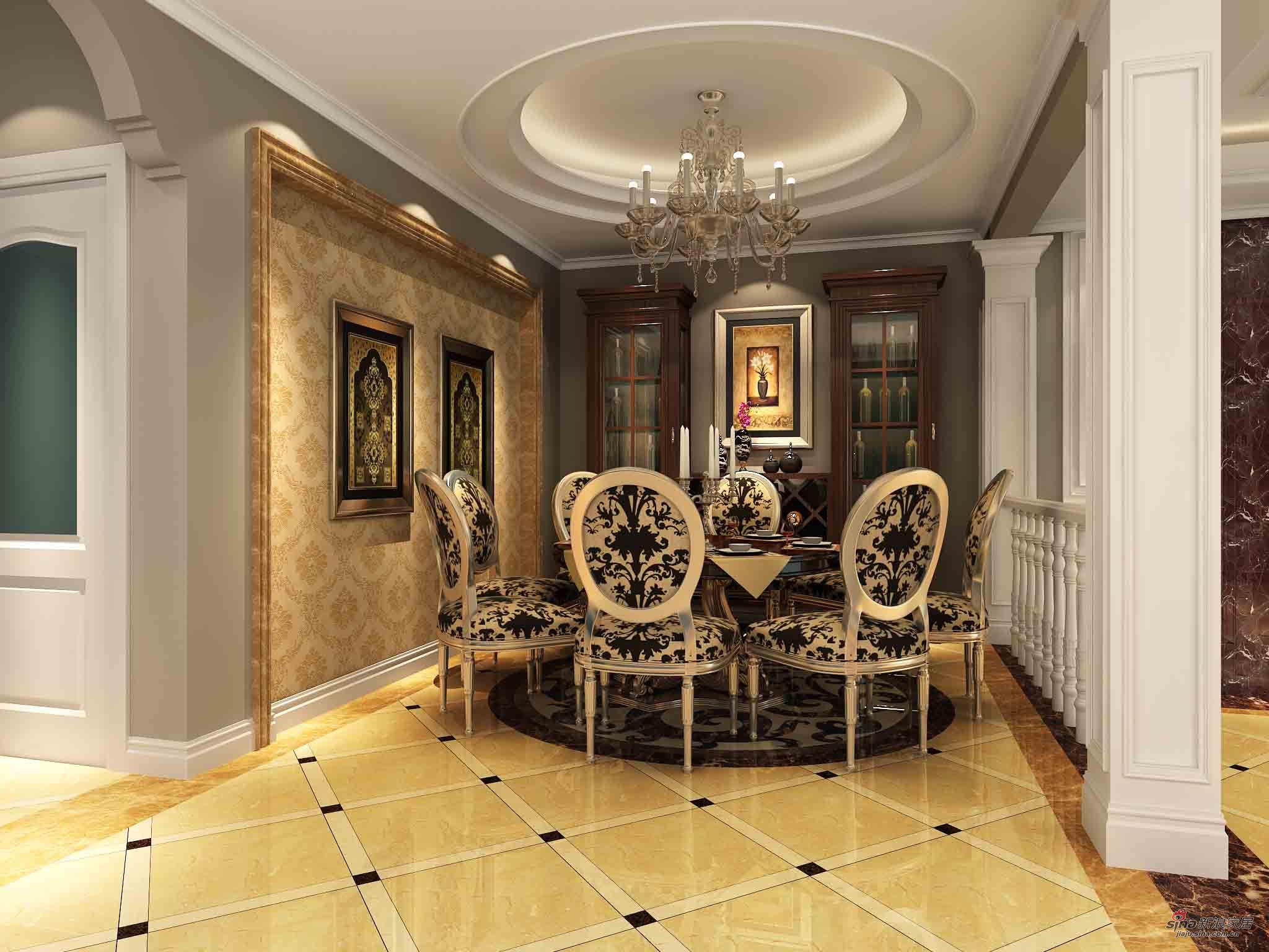 样板间 280平欧式风格装修案例 280平方米叠层上欧式风格装修案例图片