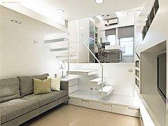 17平米现代简约小户型loft; 阜新细河区装修网; 17平米现代简约小.