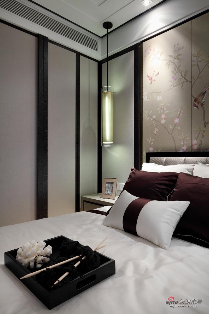浓浓新中式气息的卧室