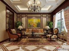 中海九号公馆洛可可风格别墅装修效果图