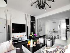 【高清】110平黑白现代简约3居婚房