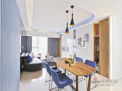 【高清】87平弧线律动现代三居室