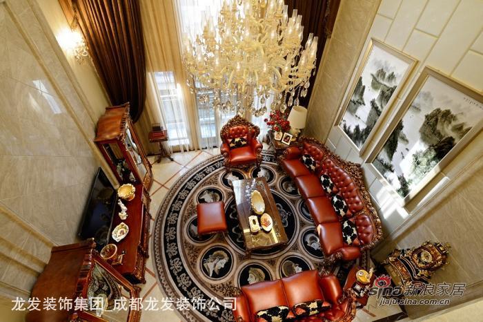 蔚蓝卡地亚别墅装修设计 法式风格实景案例