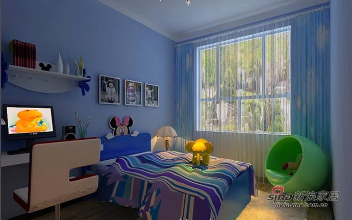 南湖玫瑰湾126㎡简约风格儿童房装修设计效果图