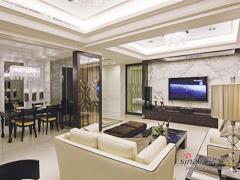 【高清】140平细腻线条新古典4居室