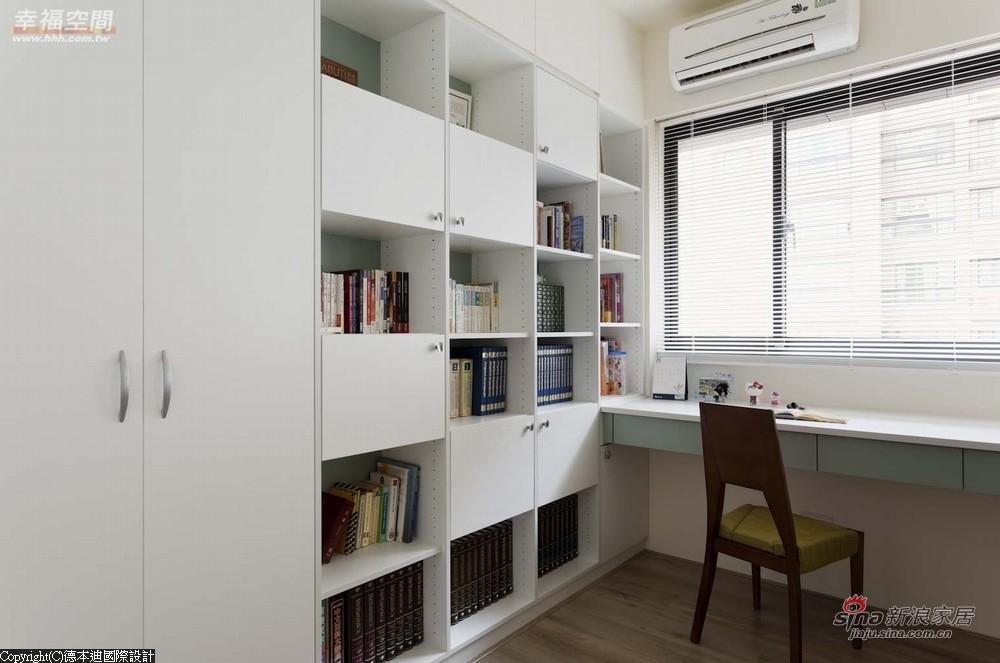 以书柜为隔间上方处加以迭柜设计