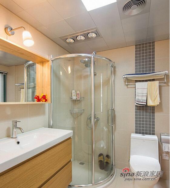 整个玻璃材质设计起来的浴室间