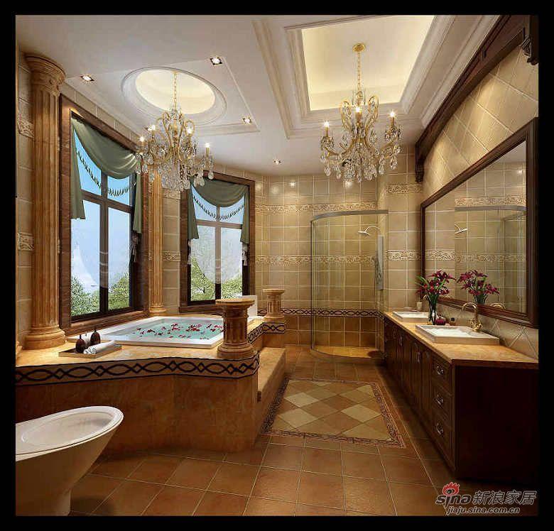 240平古典美式主义别墅图片 样板间