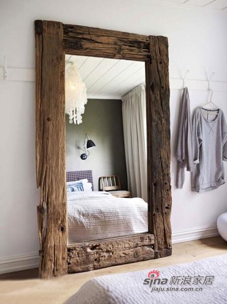 木框大镜子