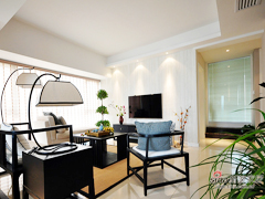【高清】130平新中式清雅休闲3居室