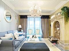 【多图】220平loft的唯美地中海风格