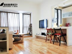 【高清】旧房改造58平小两口日式休闲居