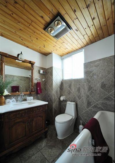 简单的元素却让整个卫生间现在饱满、和谐