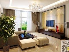 朗文世家128�O三居室现代风格