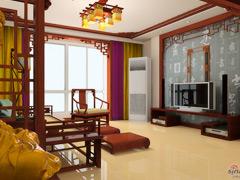 光谷新世界中式风格两居室